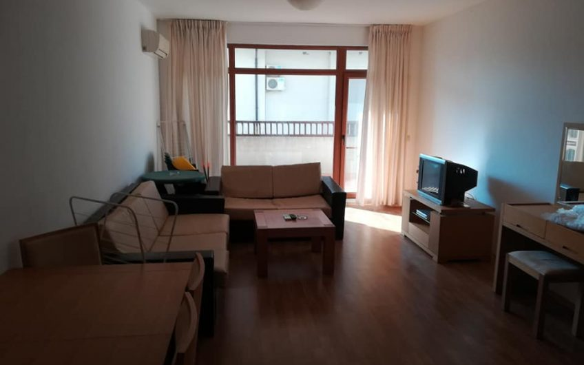 1 bed fully furnished apartment, 1st floor with balcony overlooking the pool