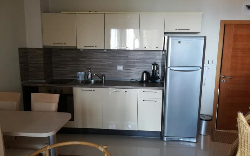 A 1 bed fully furnished apartment with balcony & sea views towards Nessebar old town