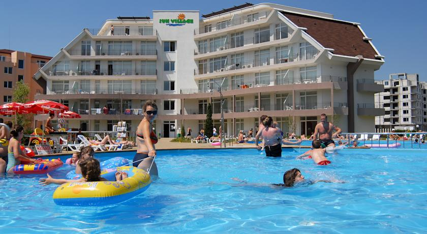 Sun Village, Central Sunny Beach. 1 bed fully furnished apartment with huge balconly