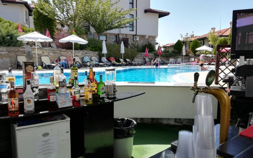 A 2 bed 3 bathroom ground floor apartment with patio & splash pool at Bay View Villas Kosharitsa.