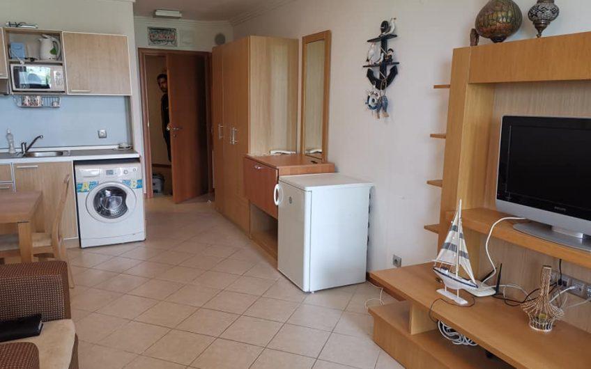 Emerald Beach Resort & Spa Ravda, A studio apartment with balcony & sea views.