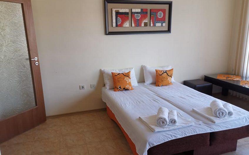 A front line studio apartment at the Aurelia Hotel complex at Ravda.